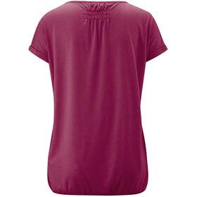 Maier Sports Lulea T-Shirt Femme, red plum melange